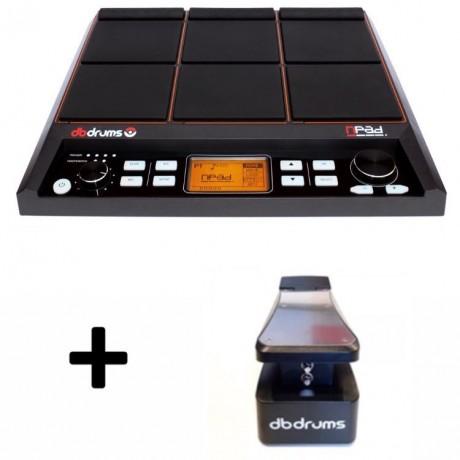 Combo nPad. Multi Sample pad. 512 + Pedal de Footswitch Hi-hat/bombo